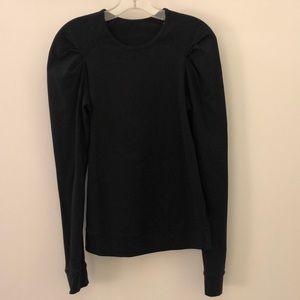 Lululemon black LS top, sz 6, 63696
